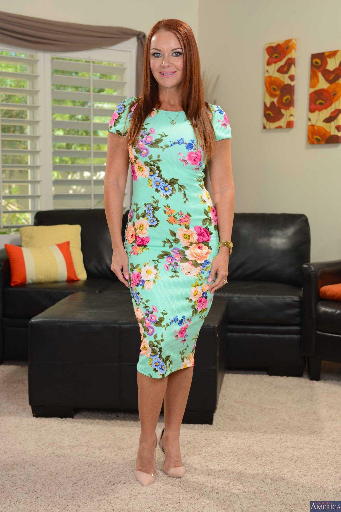 Hot milfs in dresses