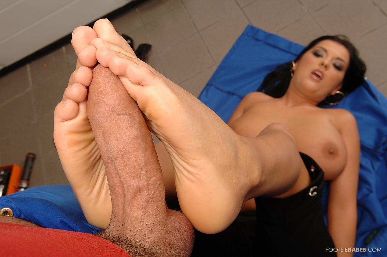 Jasmine black footjob
