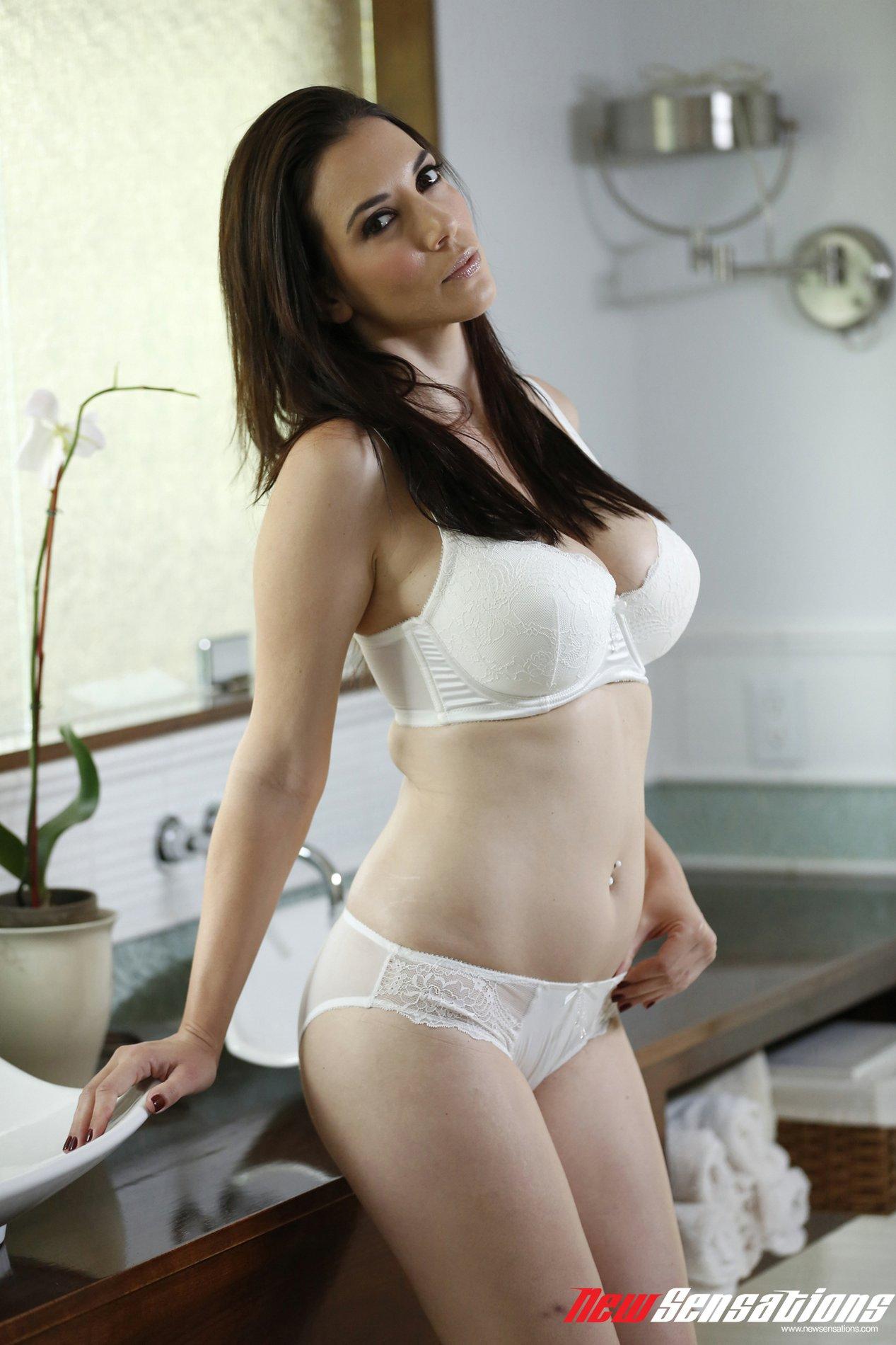 brunette Jelena jensen busty
