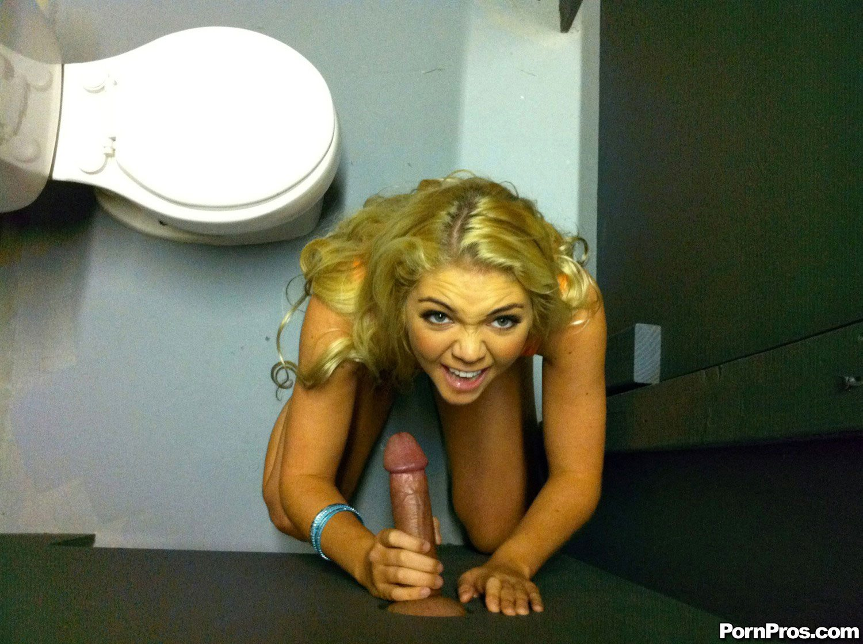 Bathroom glory hole fuck with Jessie Andrews - My Pornstar Book