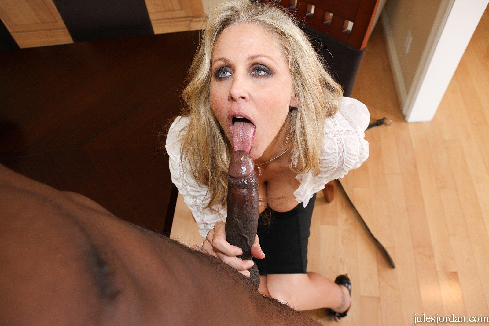 Julia Ann Takes On A Big Black Cock