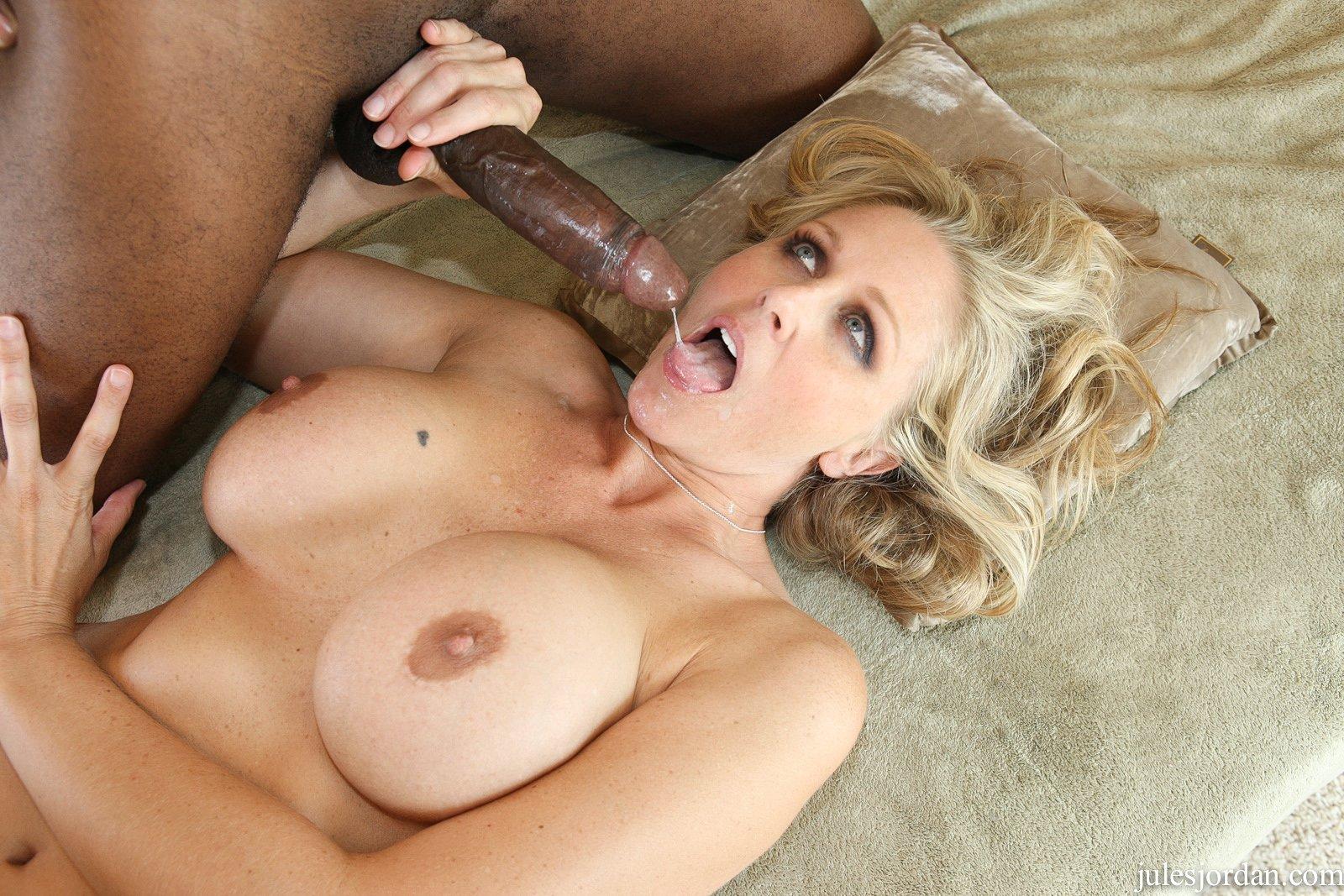 Watch Blonde Julia Ann Takes Big Black Cocks In Mouth