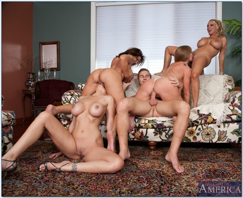 American milf orgy actress