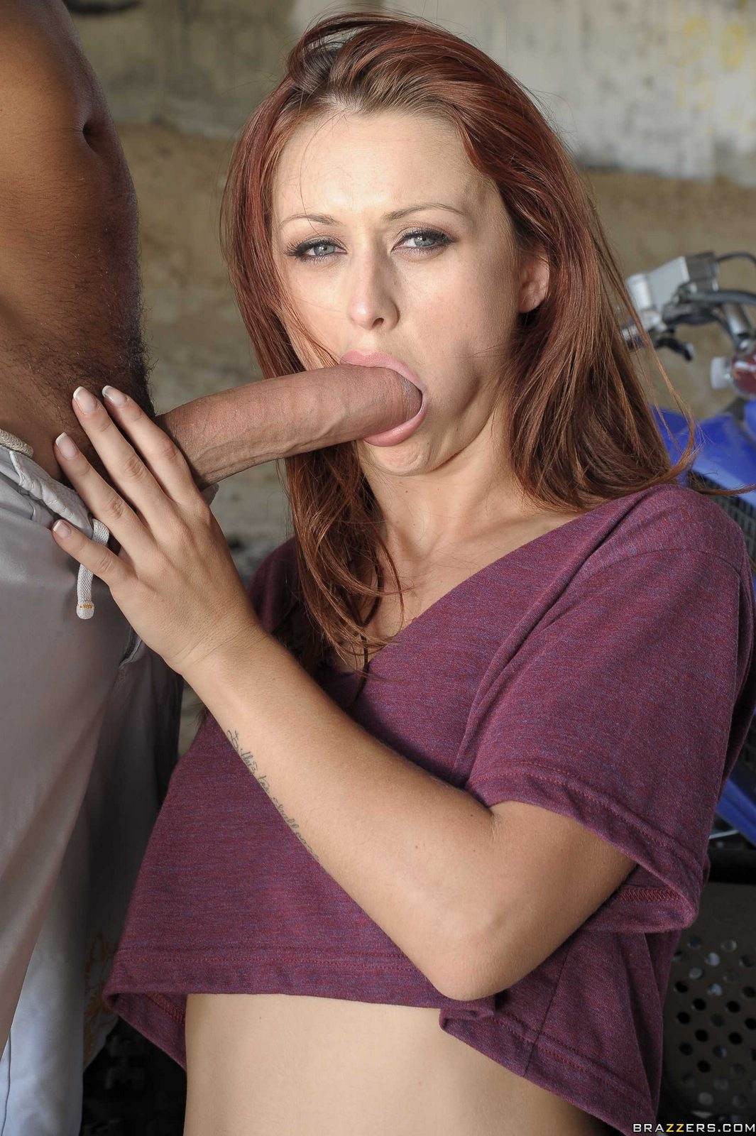 Hot bitch Karlie Montana sucking and fucking a huge dick ...
