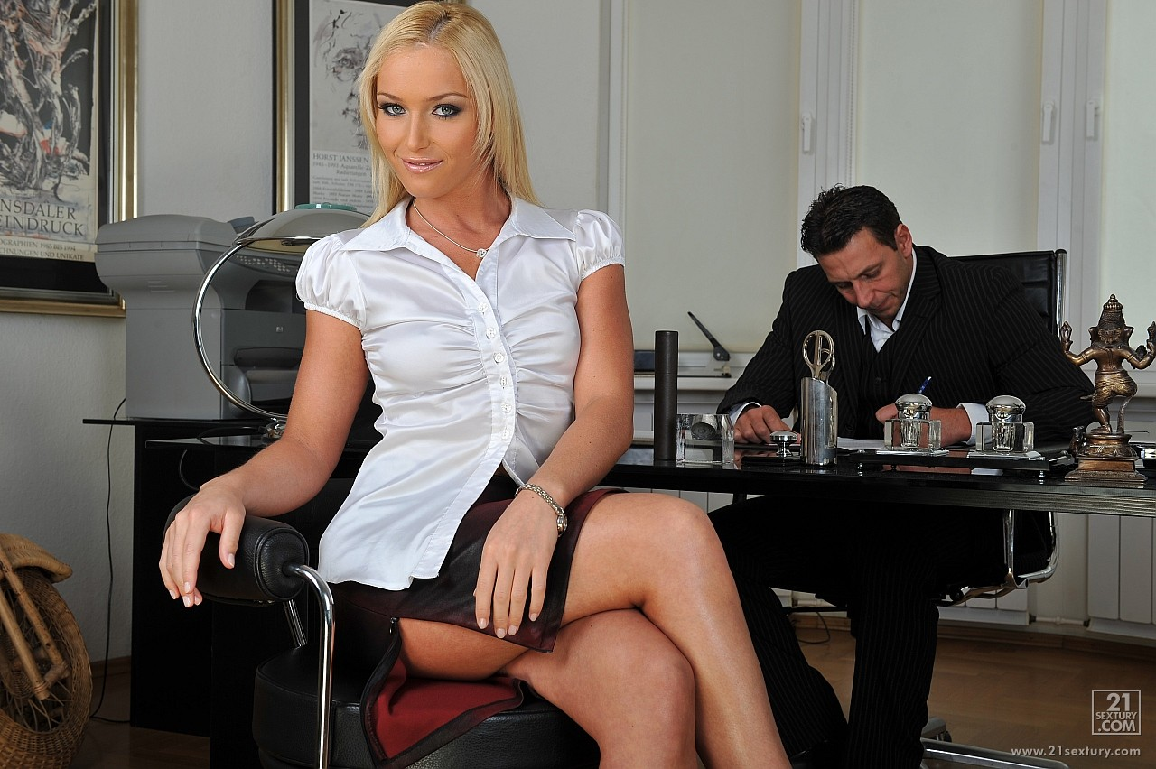image Hot secretary masturbating for her boss