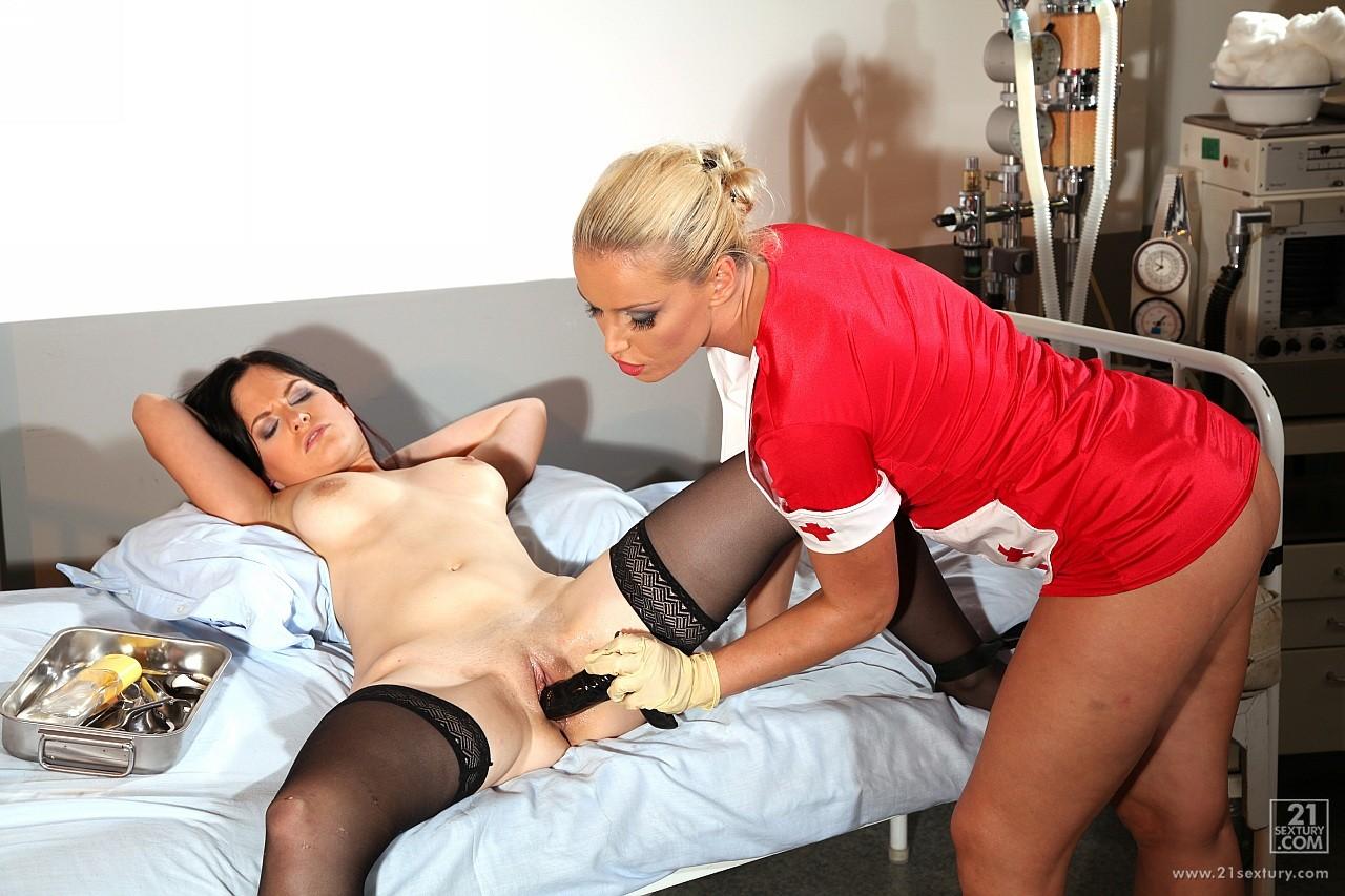 Nurse lesbian fisting