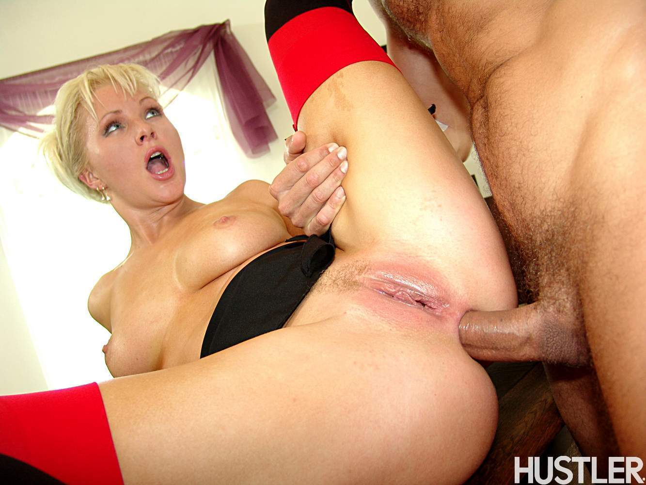 Kathy Anderson In Black Stockings Gets Anal Fucked In The -7638