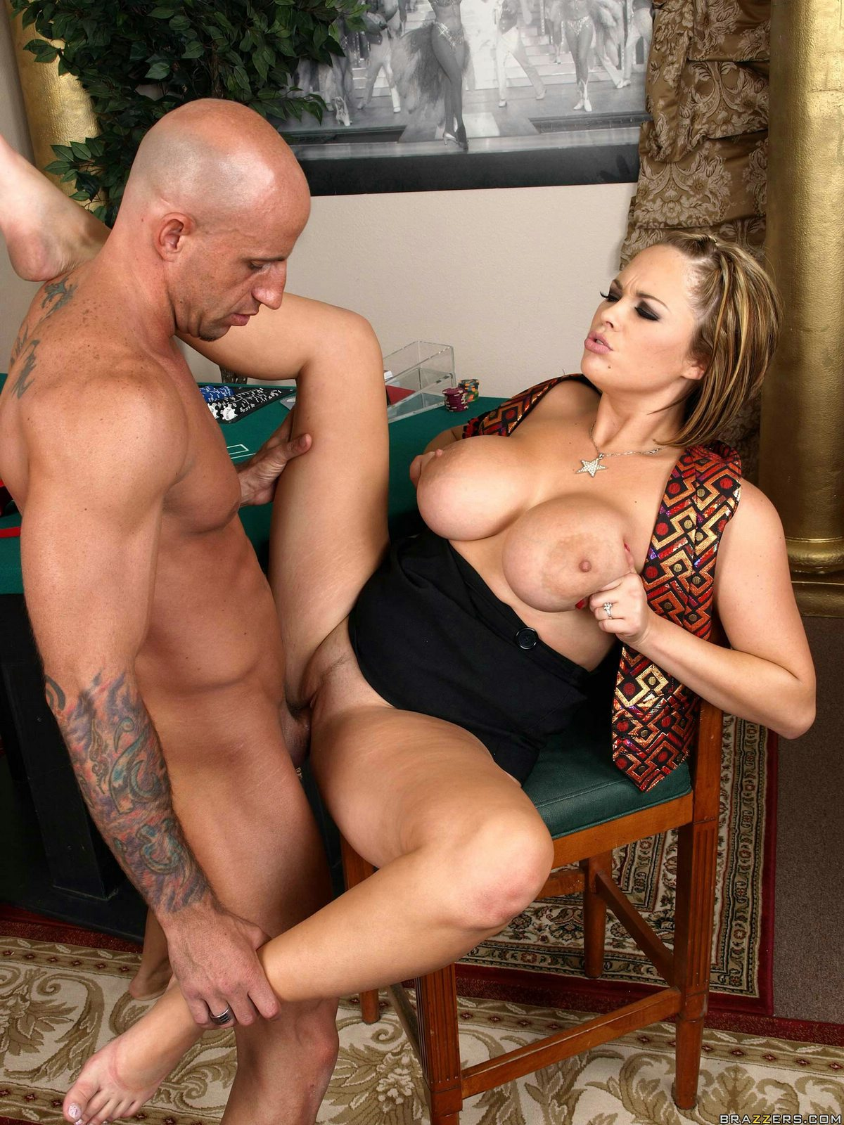 Mega busty blond mommy katie kox gets mouth fucked by african studs hard