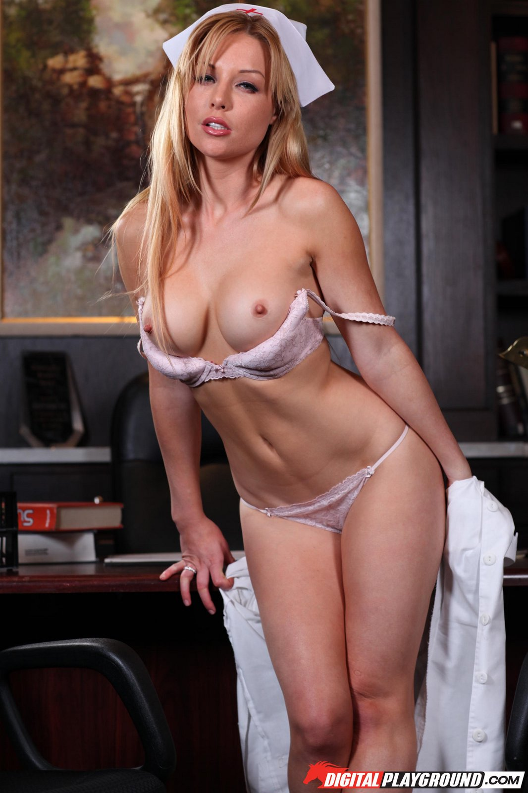 Beautiful nurse Kayden Kross getting fucked - My Pornstar Book