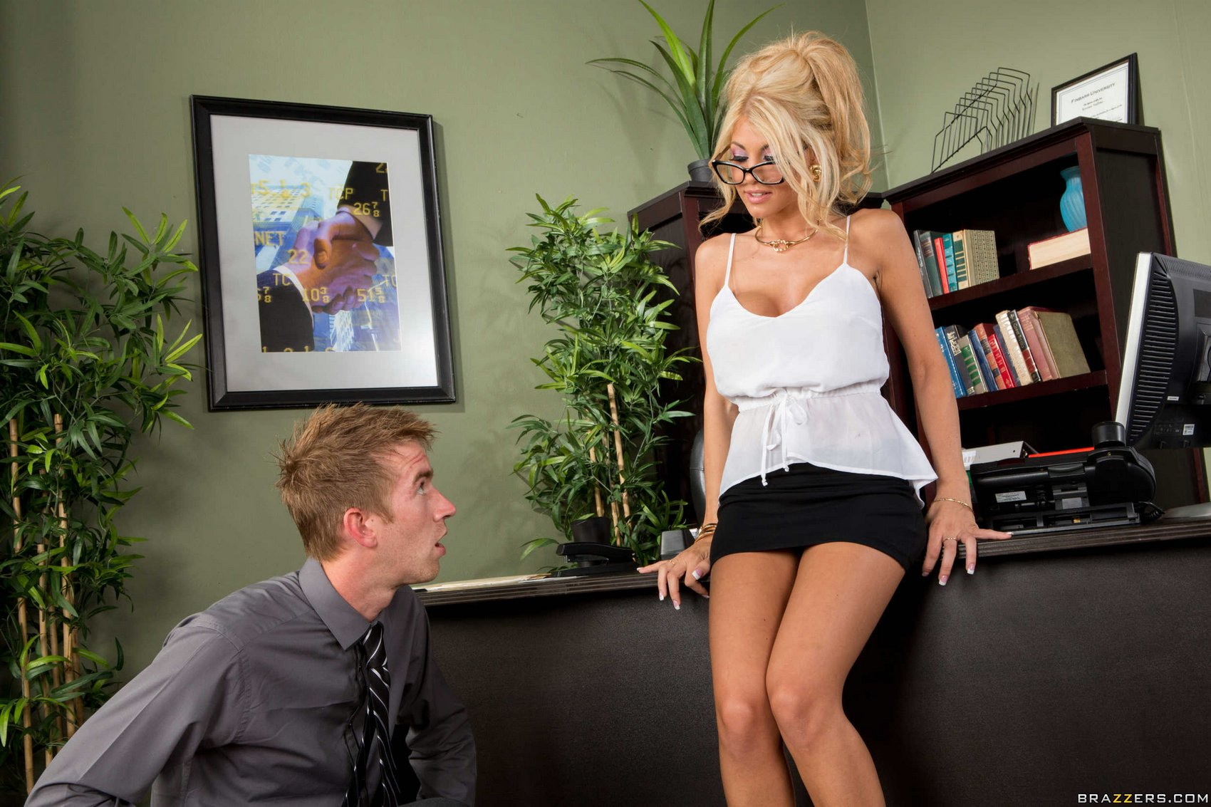 Kayla Kayden getting fucked hard by her co-worker in the ...
