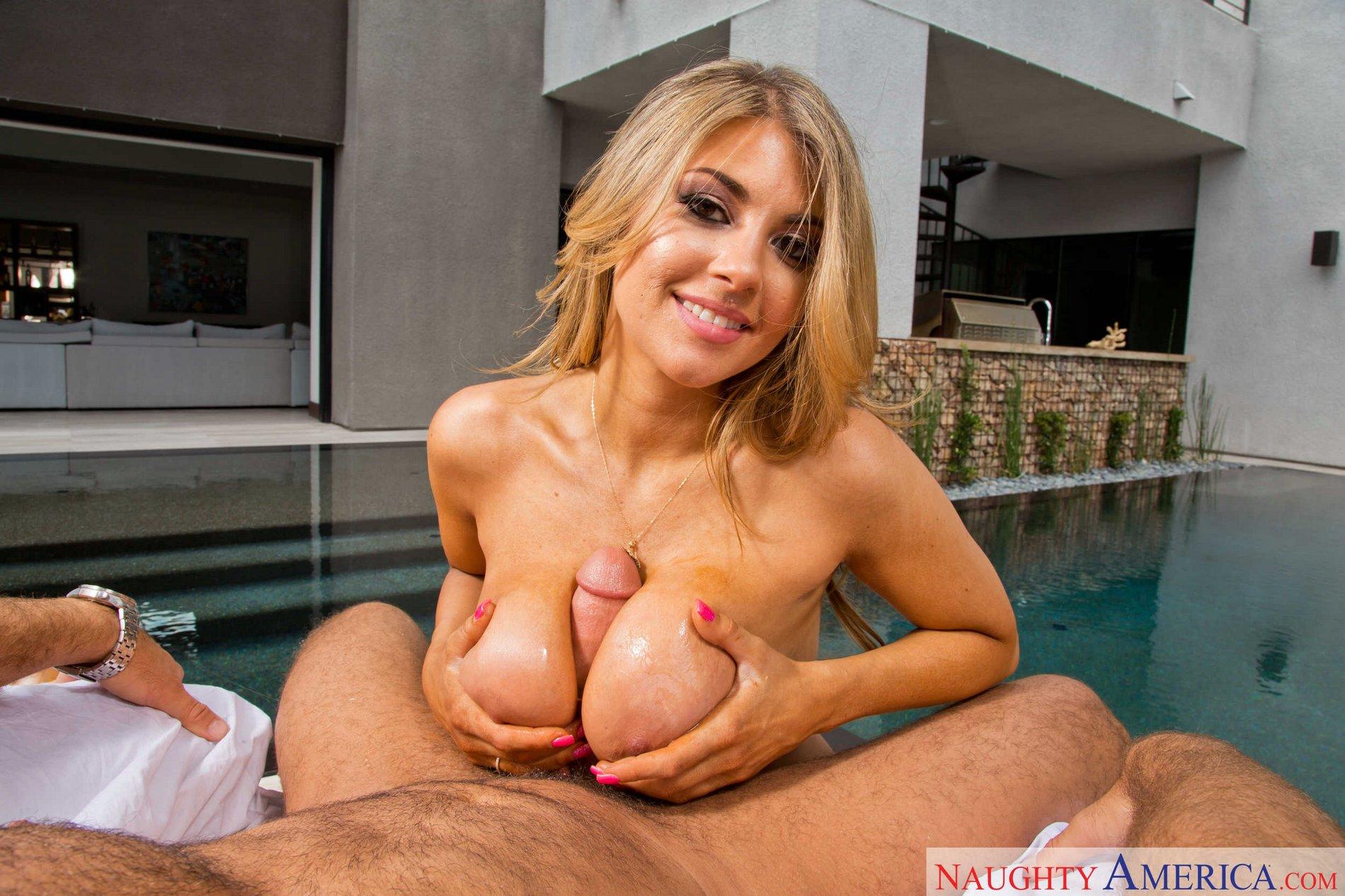 Busty blonde Kayla Kayden fucked
