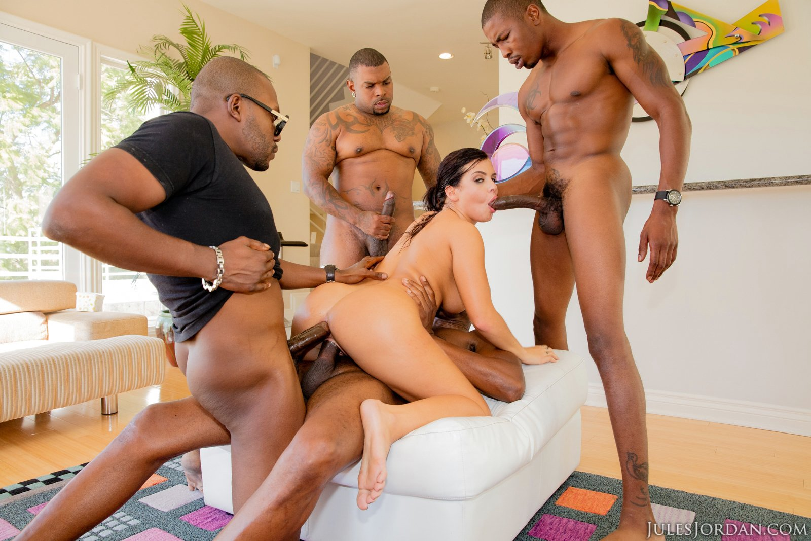 Me getting fucked by two black cocks 10