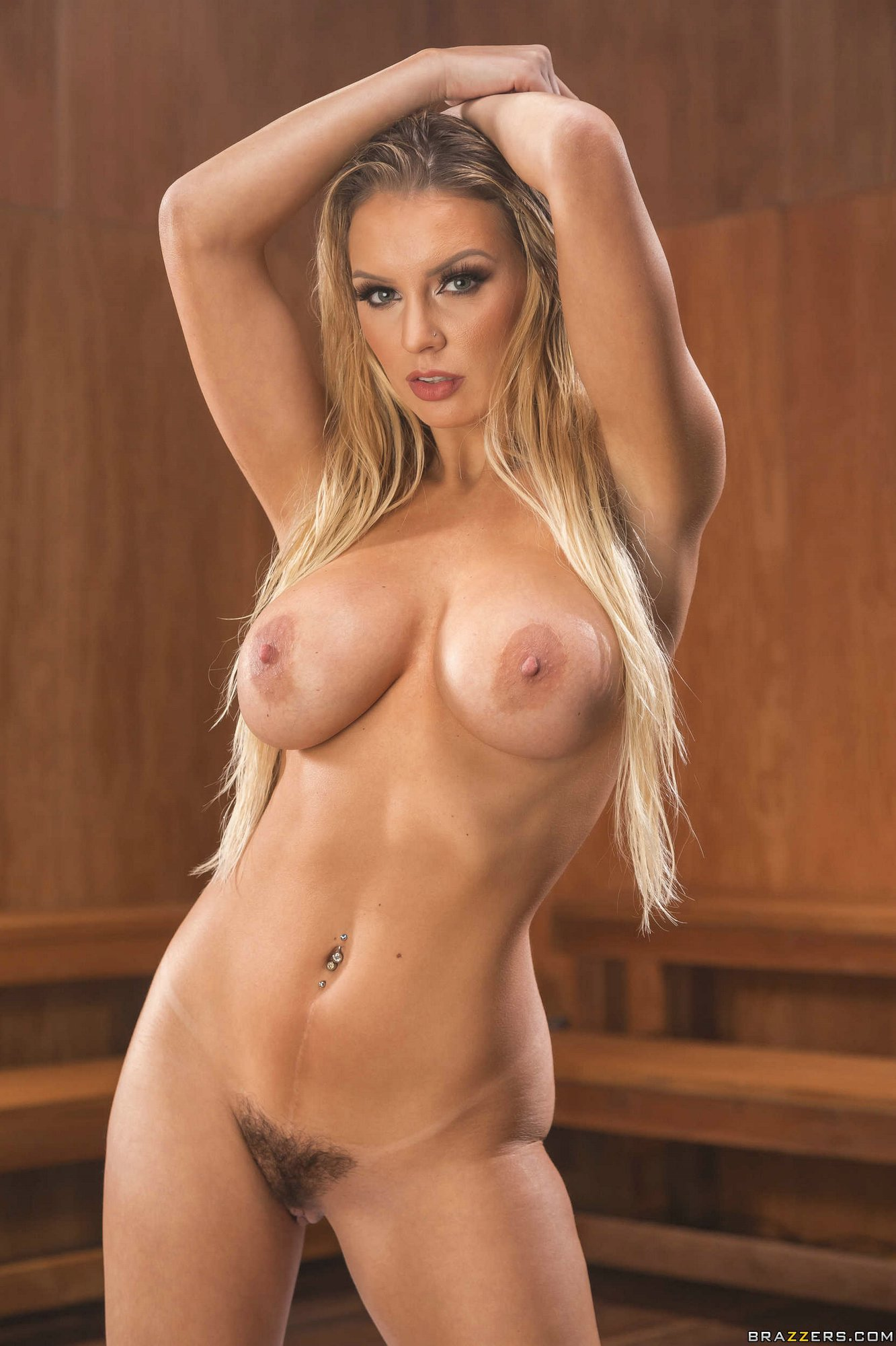 Kenzie Taylor presents her nude oiled body in sauna - My ...