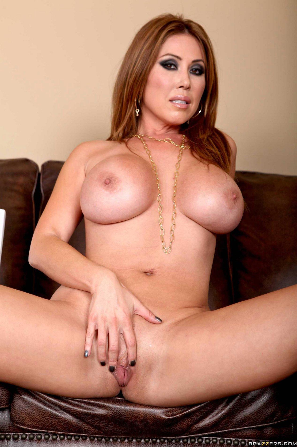Voluptuous asian milf kianna dior shows off her gigantic tits in leopard print lingerie