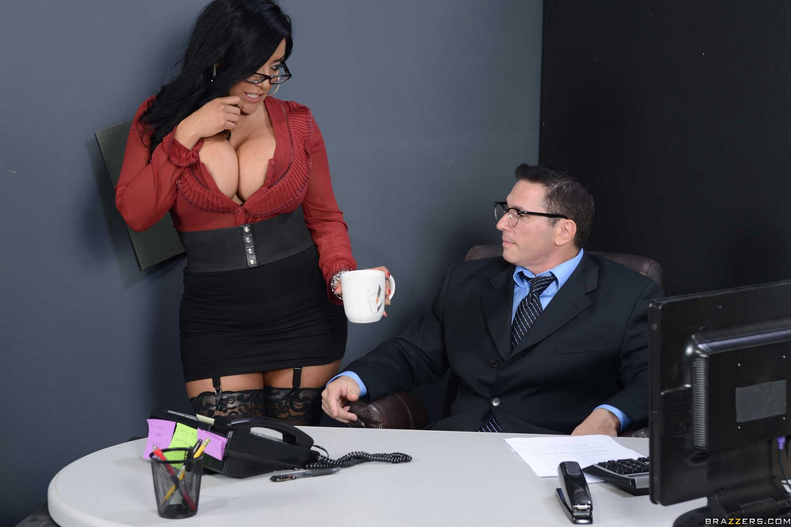 Secretary masturbating in her office while others working - 1 part 5