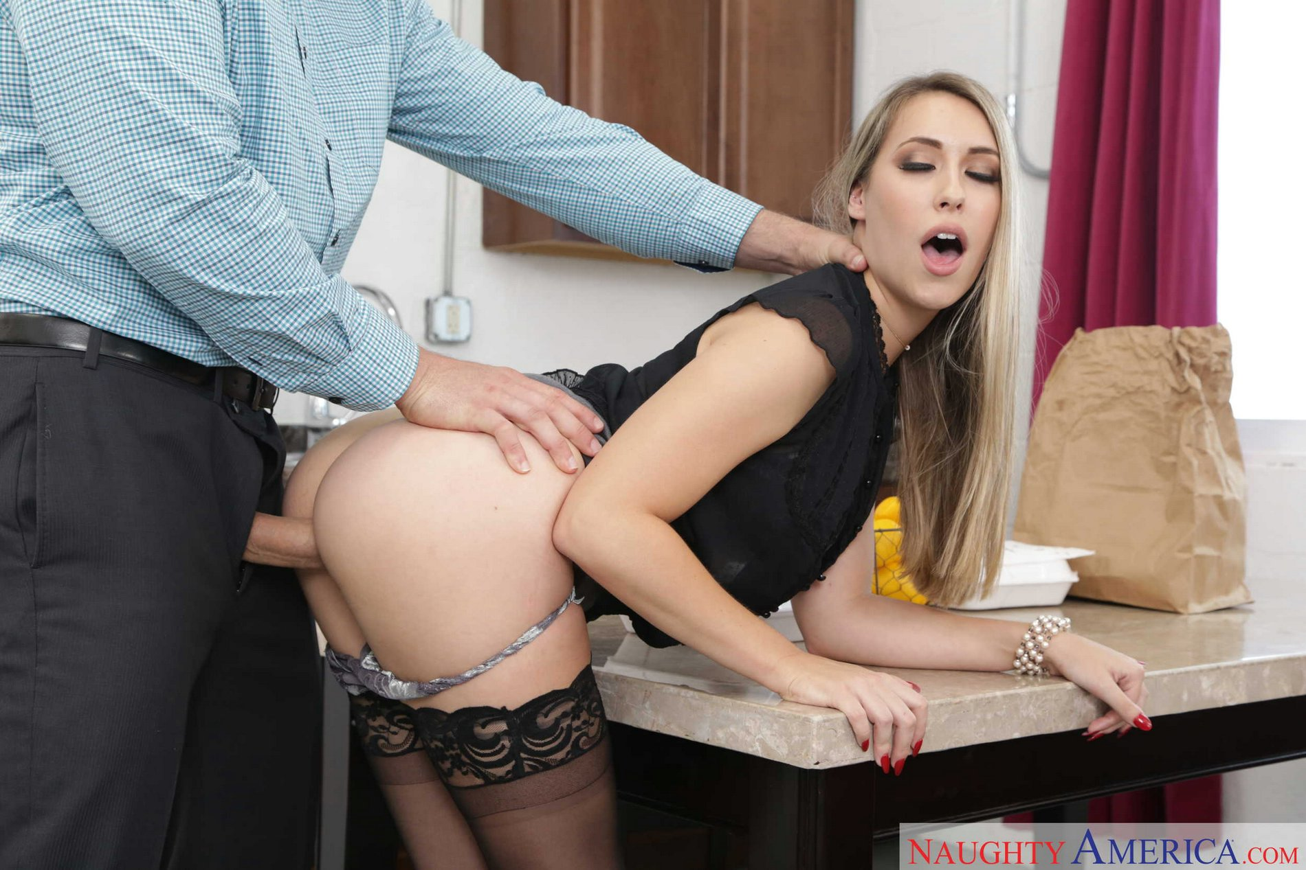 Naughty milf fucked hard on table and chair 6