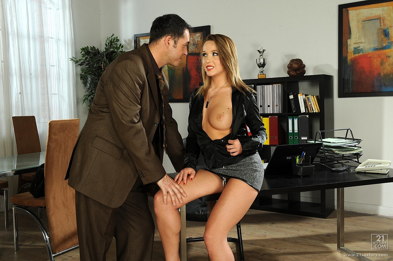 Hot secretary Kitty Cat getting anal fucked in the office ...