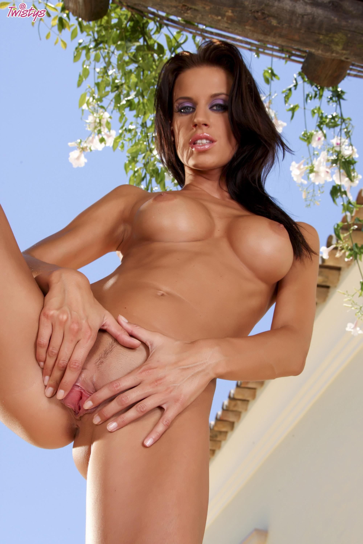 klara smetanova in sexy dress strips and poses outdoor - my pornstar
