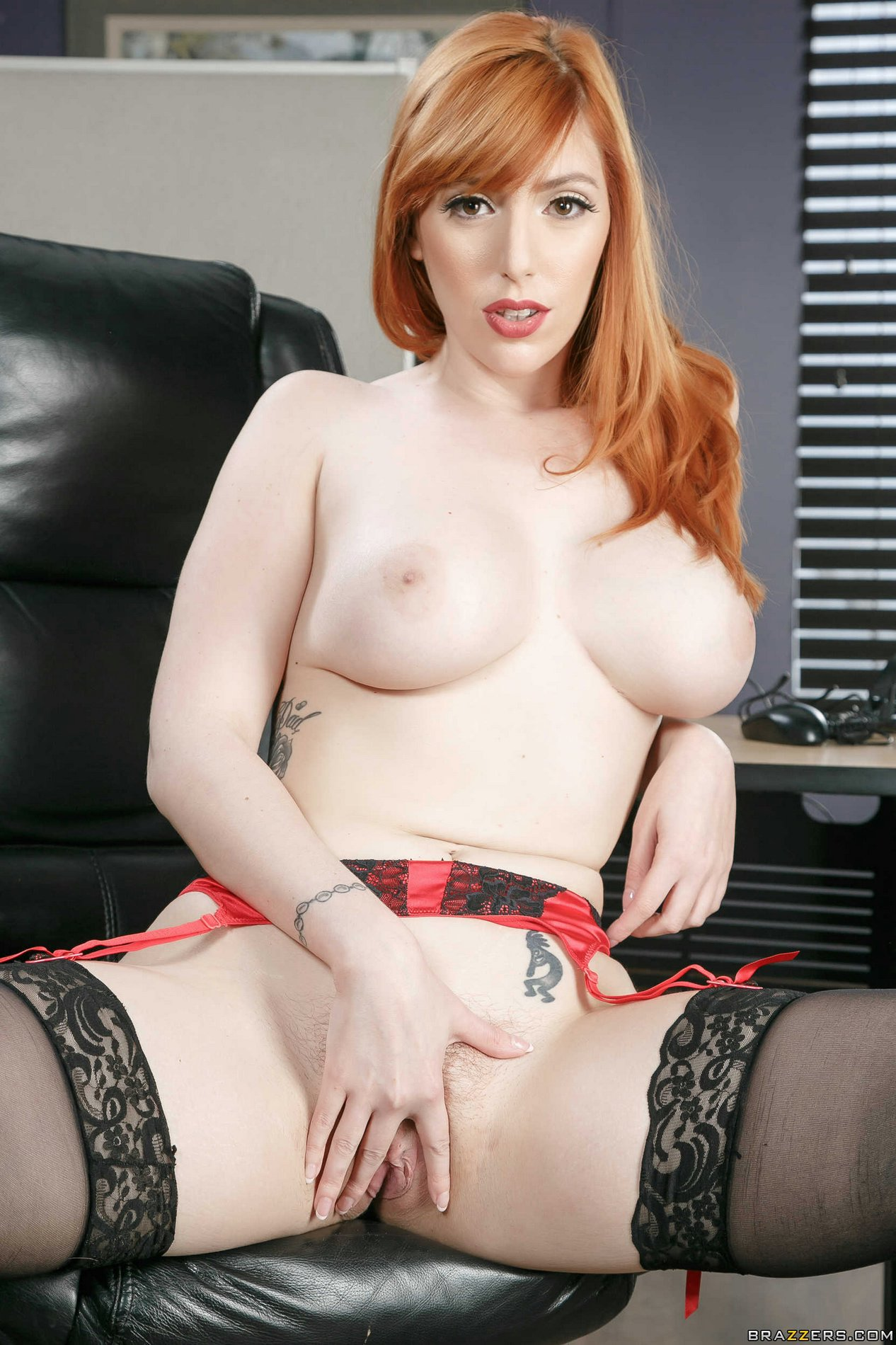 image Busty redhead lauren phillips first ever vid with vicky vette