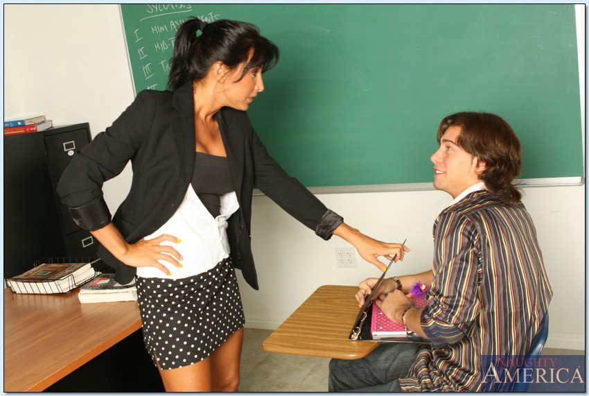 Hot teacher with her student-8740