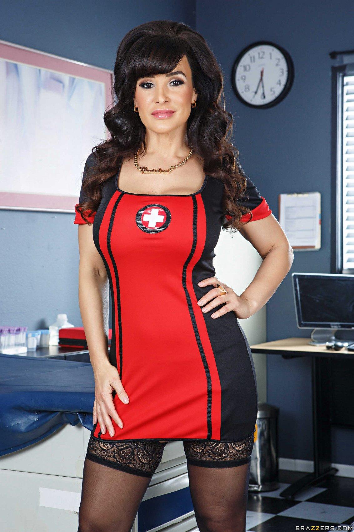 Hot Lisa Ann Pic hot nurse lisa ann in black stockings and heels posing for
