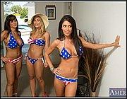 String bikini galleries Thai women