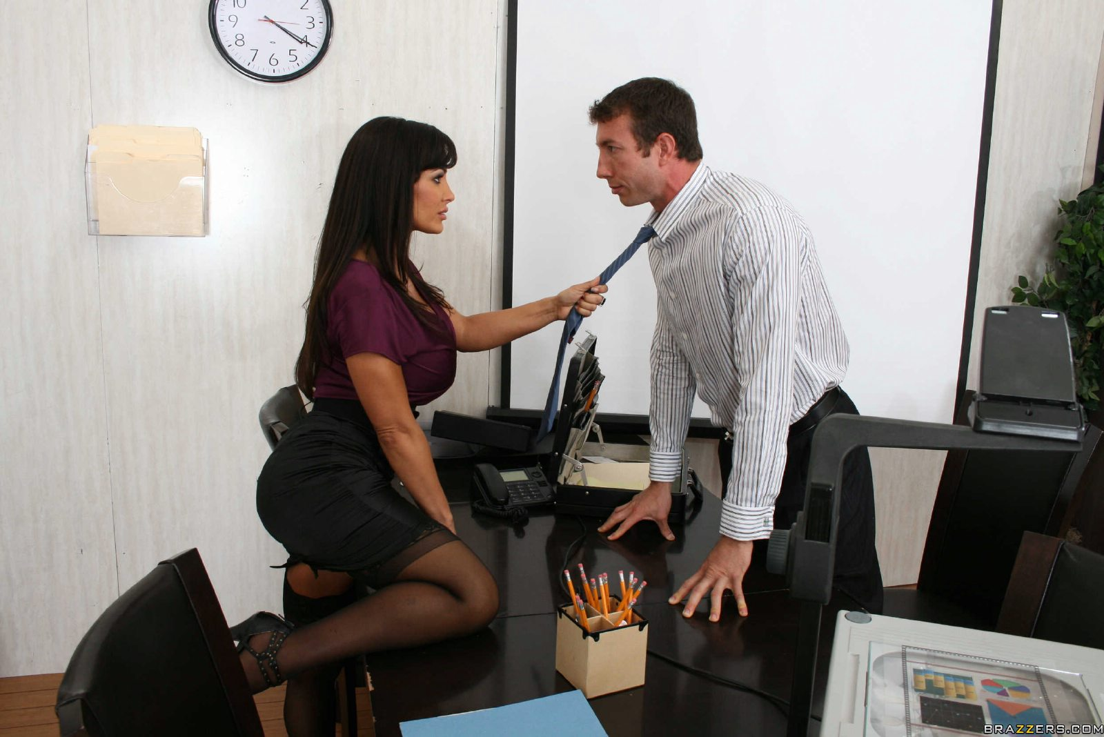 image Muscular office boss brenden cage gets bj