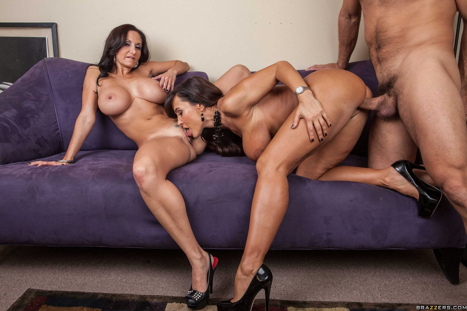 Lisa Ann And Her Milf Friends Have An Orgy Party