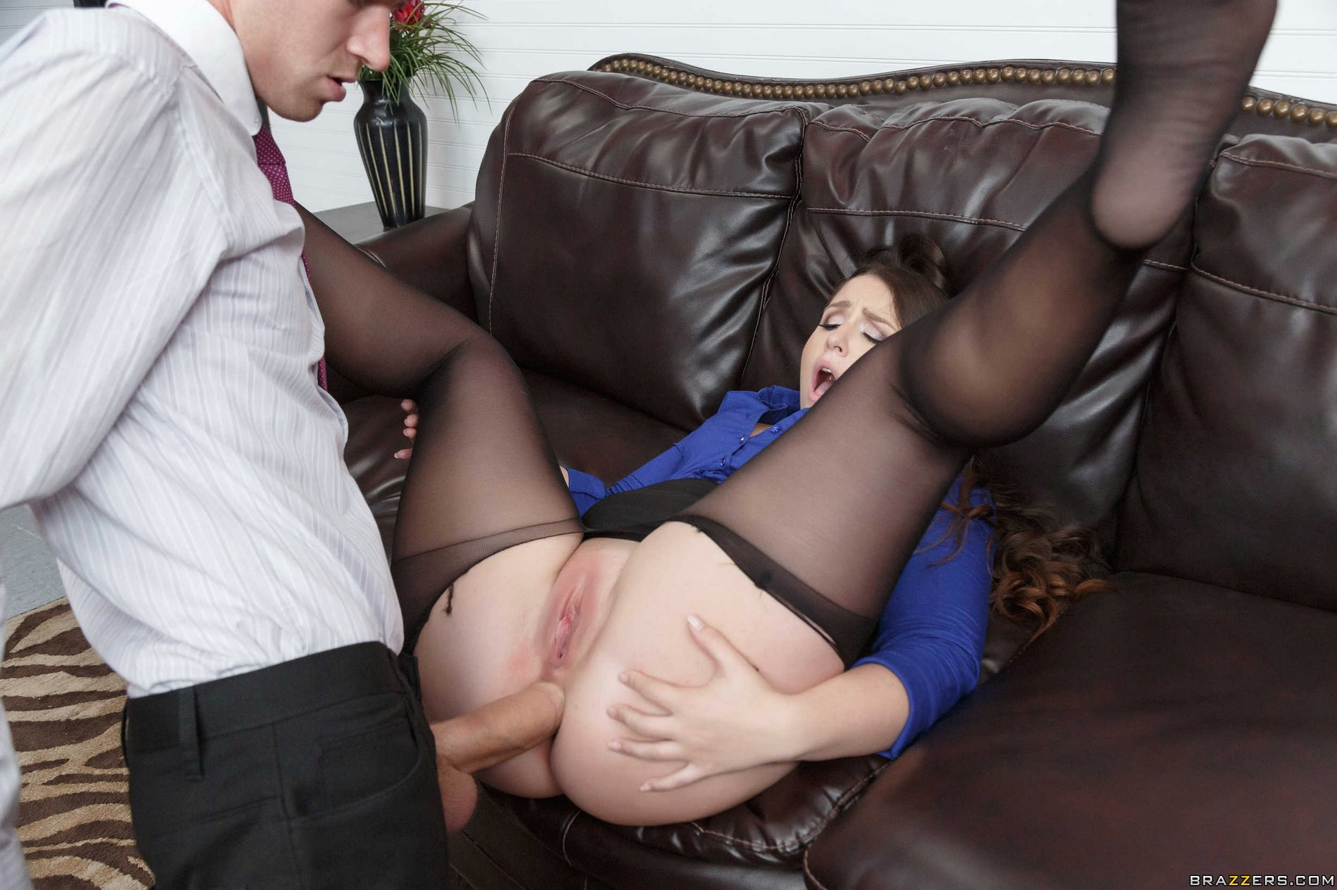 Big titted blonde valerie fox in sexy sheer stockings has hard office sex