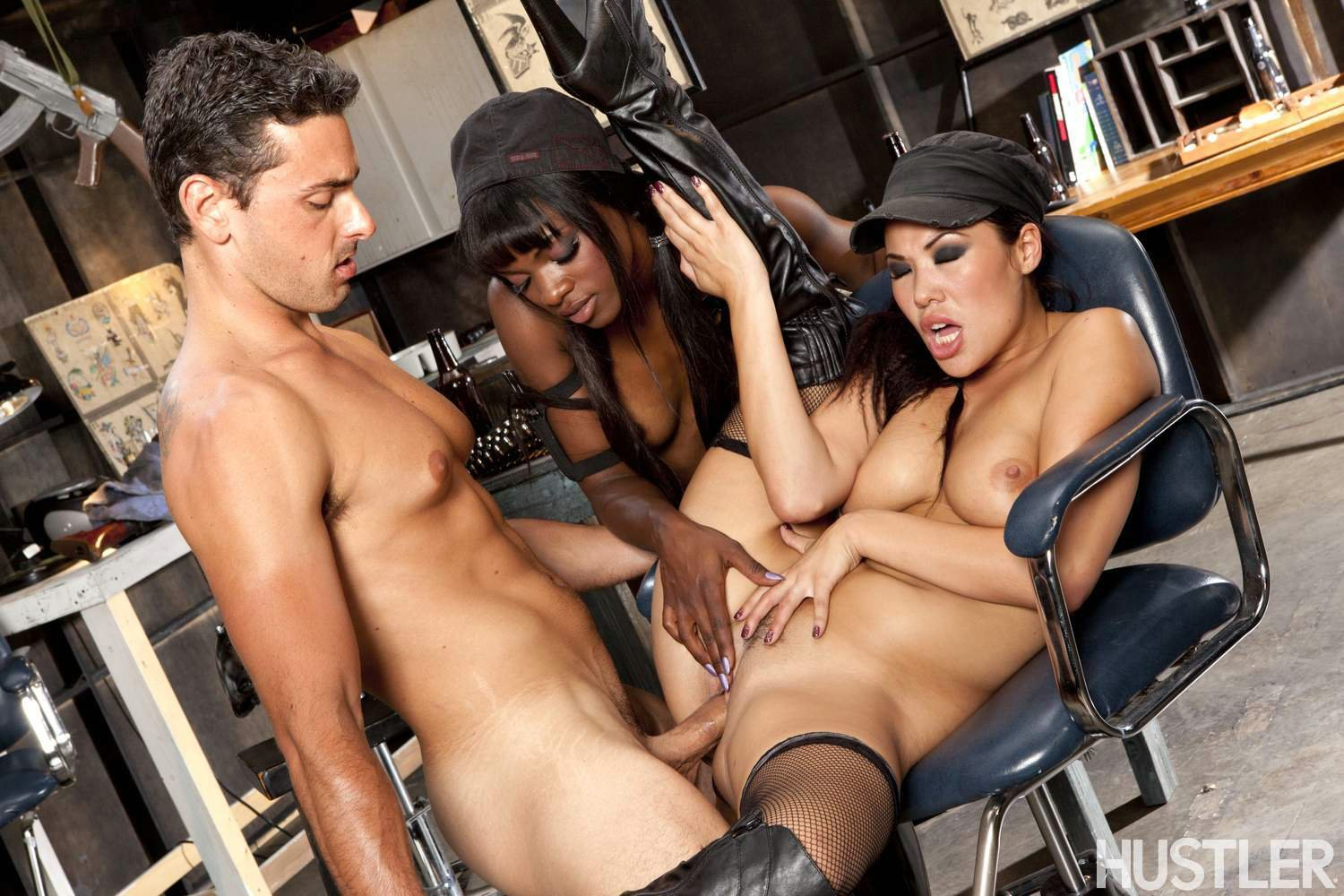 Not ana foxxx in sizzling hot interracial threesome think