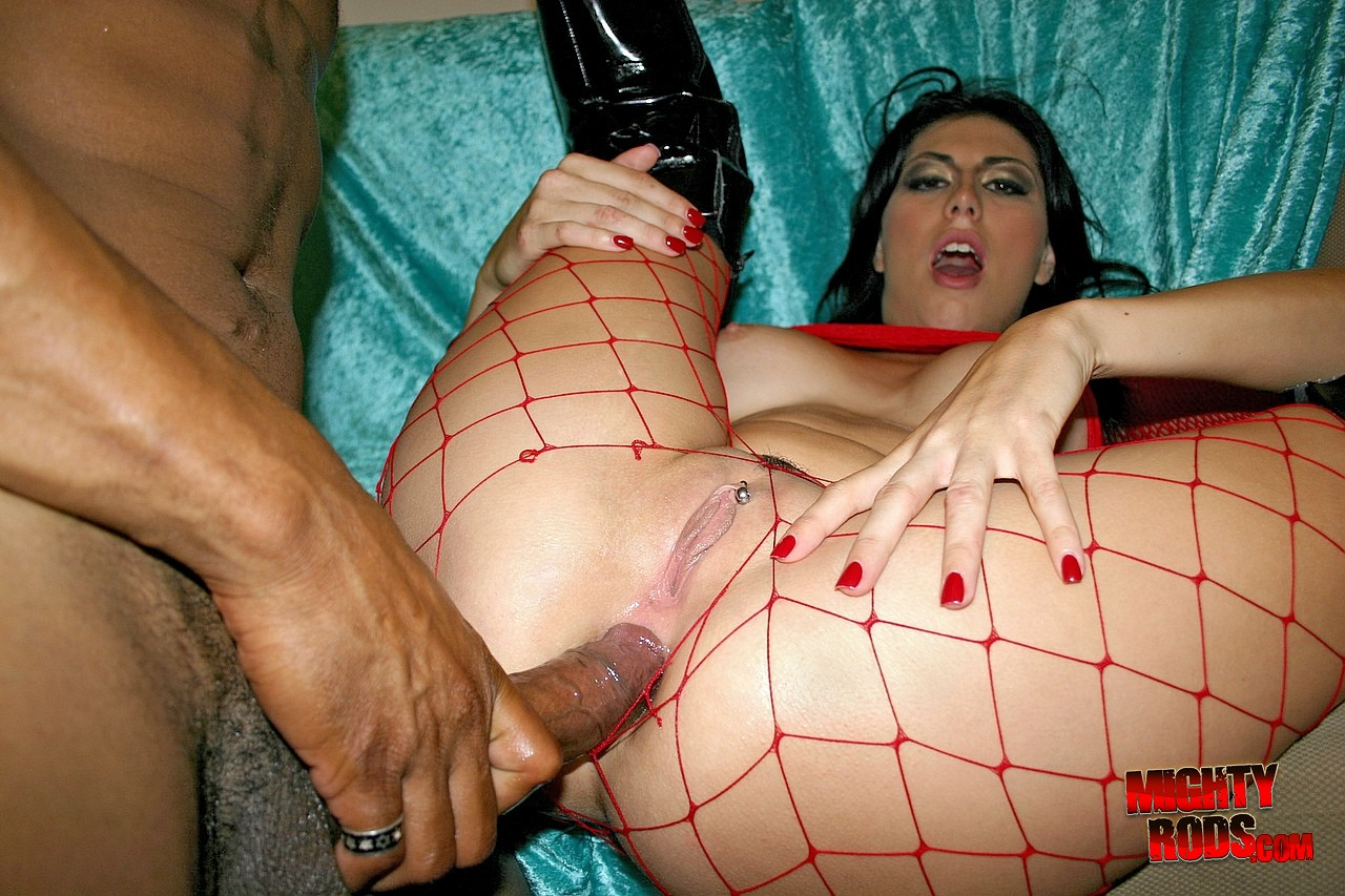 sexy fishnet stockings and boots