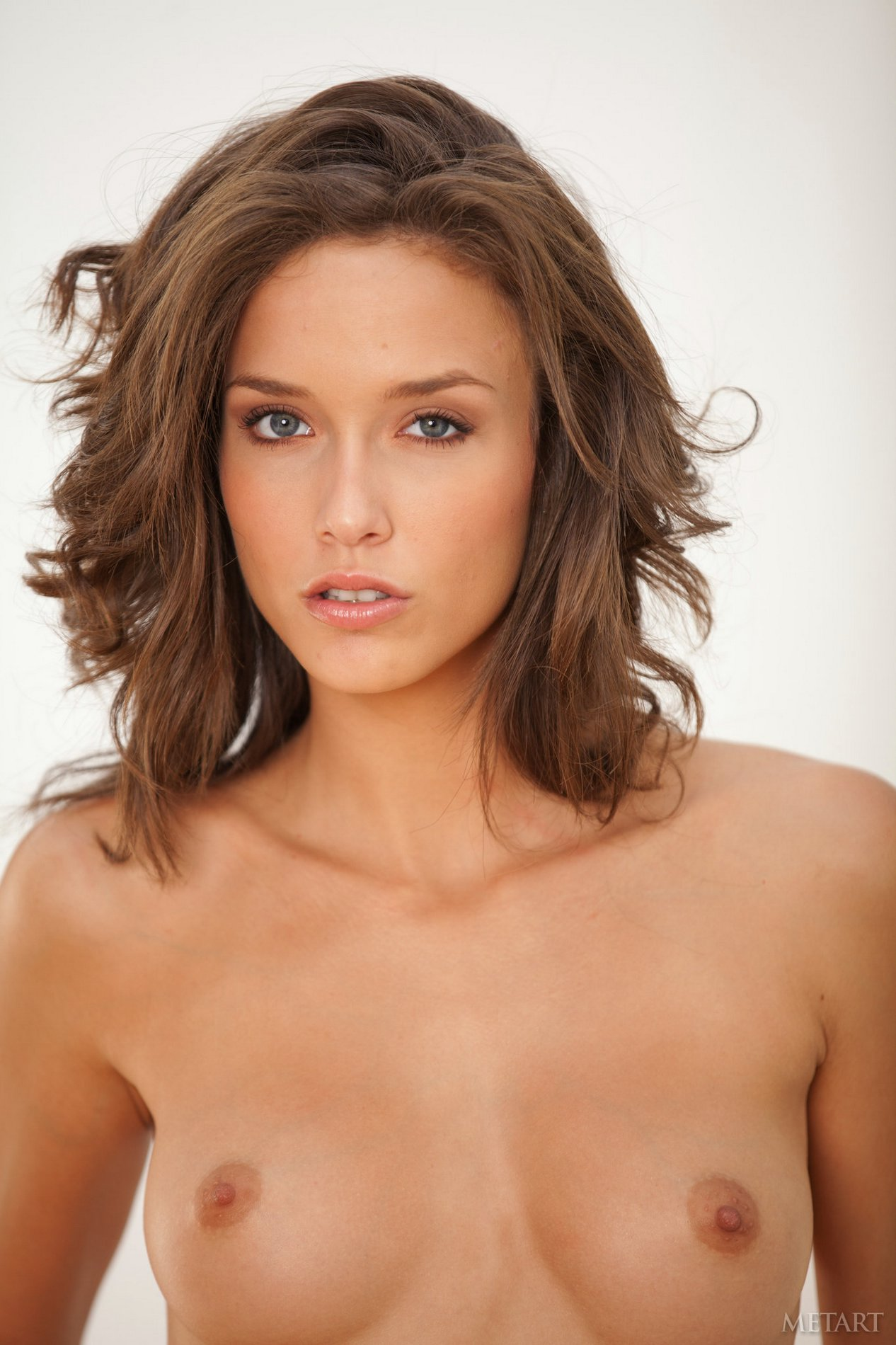 Gorgeous brunette Malena Morgan poses for camera - My ...