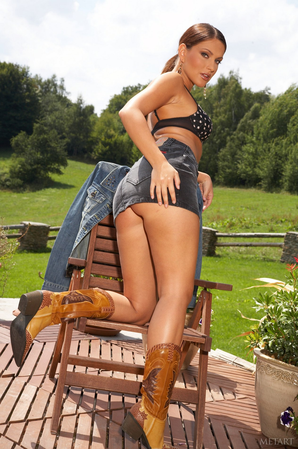 Marketa Brymova in sexy boots shows off her hot body ...