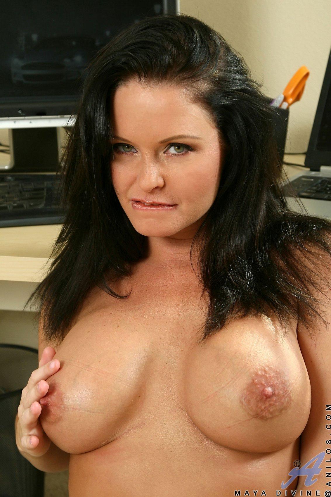 Sexy at the office along big tits anna mizuk