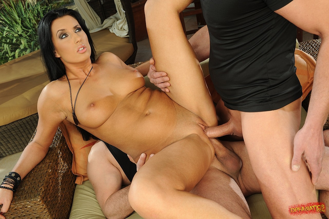 melissa ria anal - Melissa Ria in sexy shoes getting fucked hard by two guys.