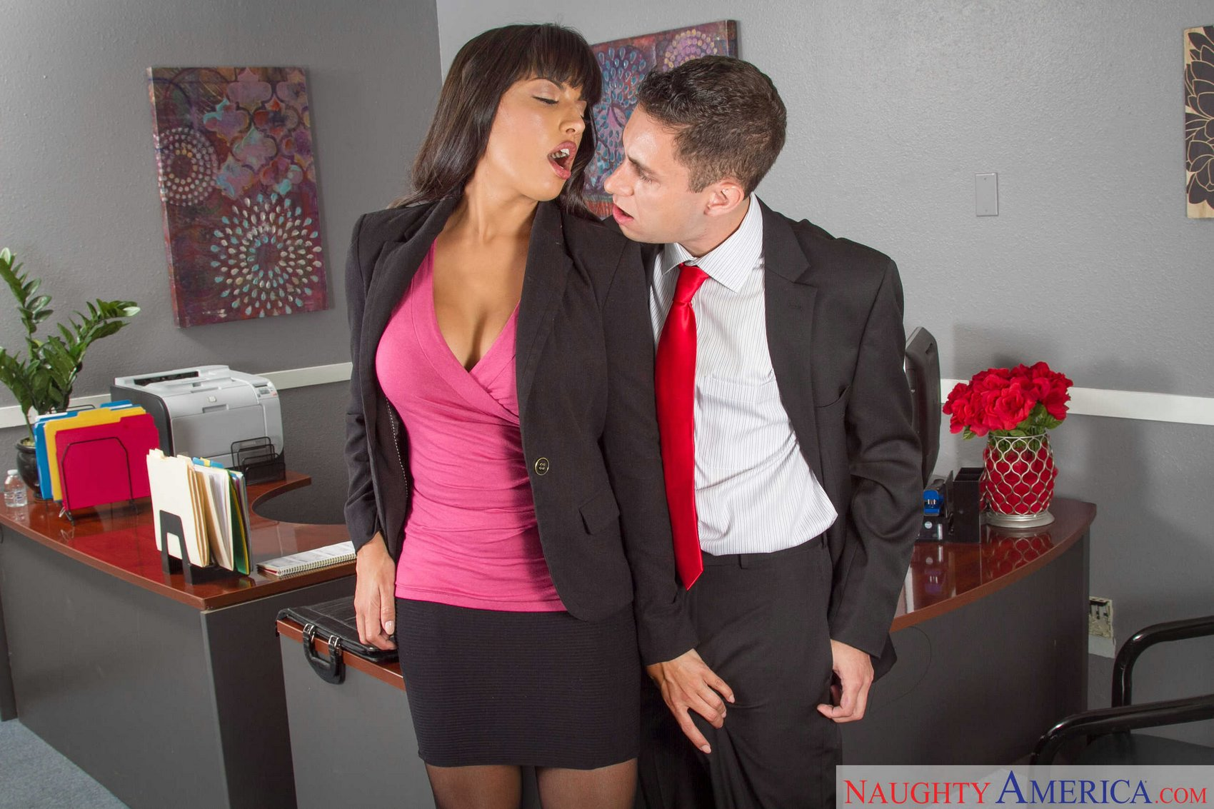 business woman mercedes carrera having sex with handsome young man