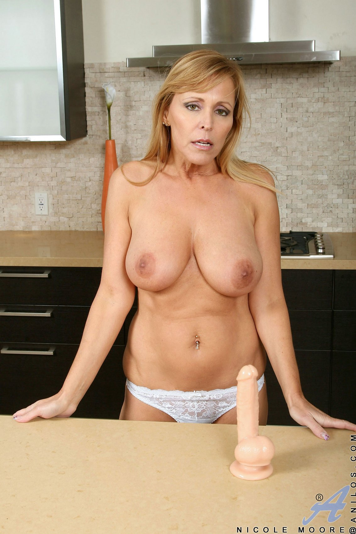 Nicole Moore Free Porn Pics hot milf nicole moore sucking a dildo in the kitchen - my