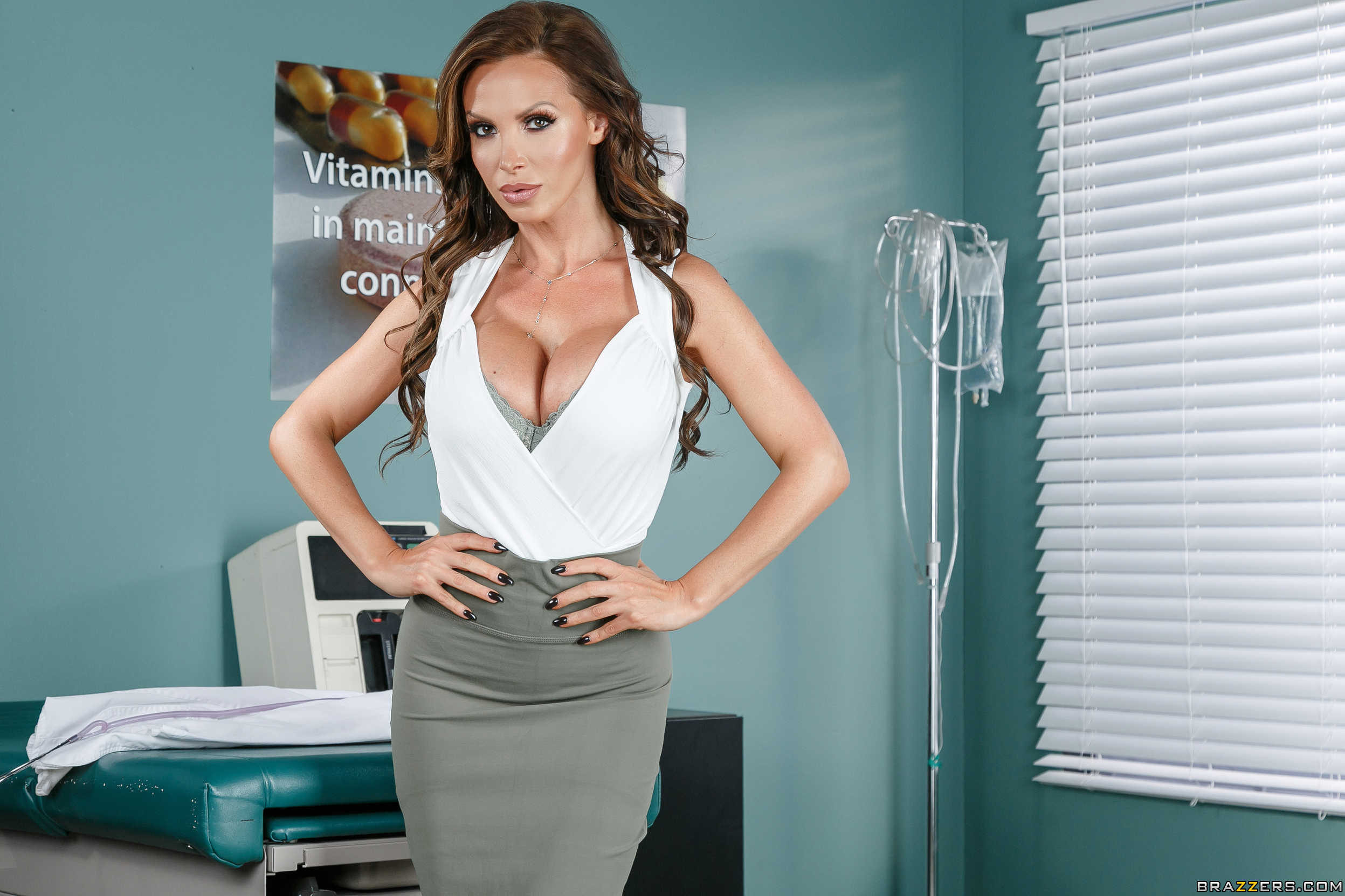 Message, matchless))) Nikki benz office stockings with you