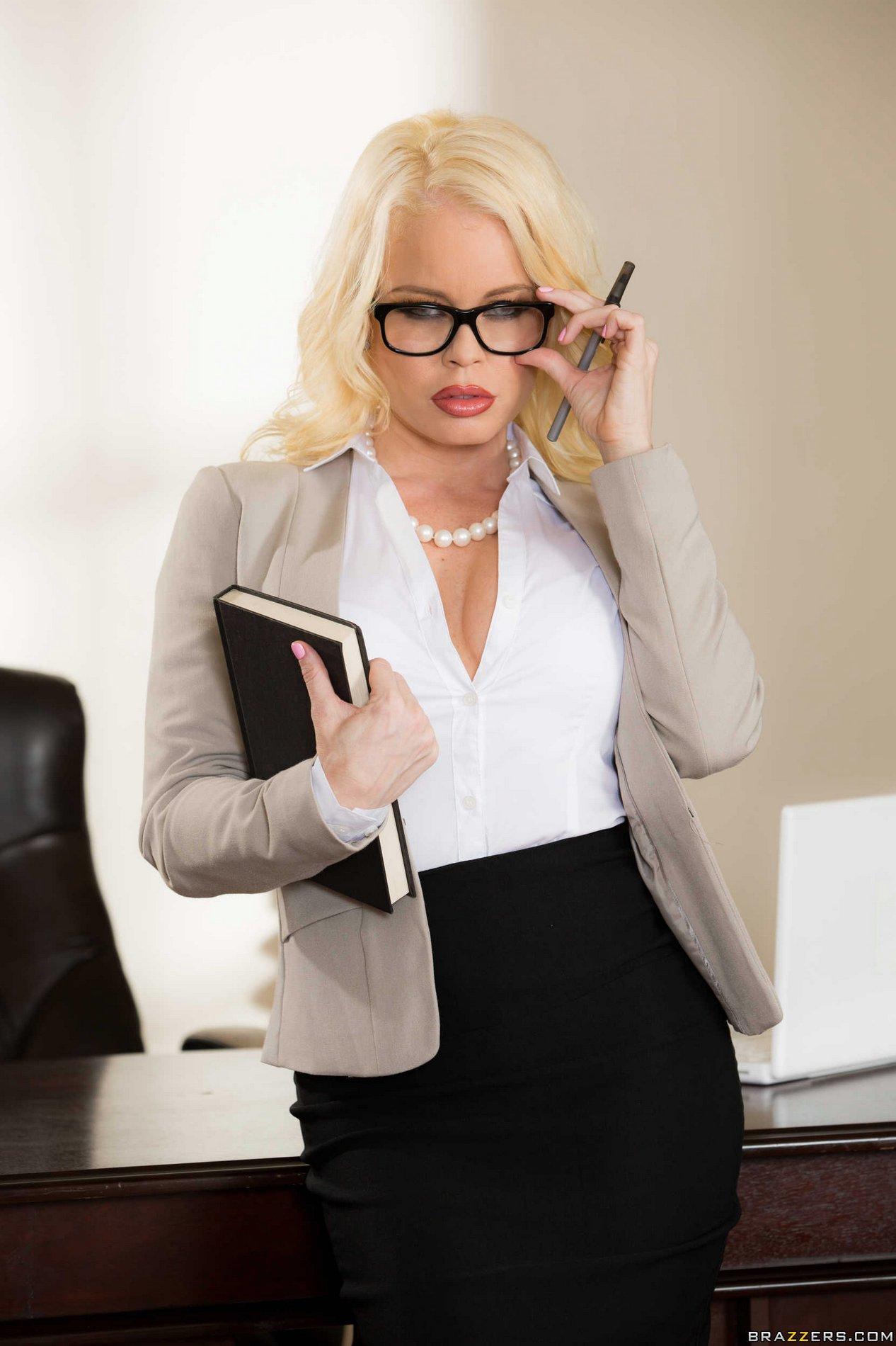 hot secretary nikki delano strips in the office my