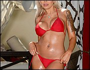 In red teen bikini from scare them