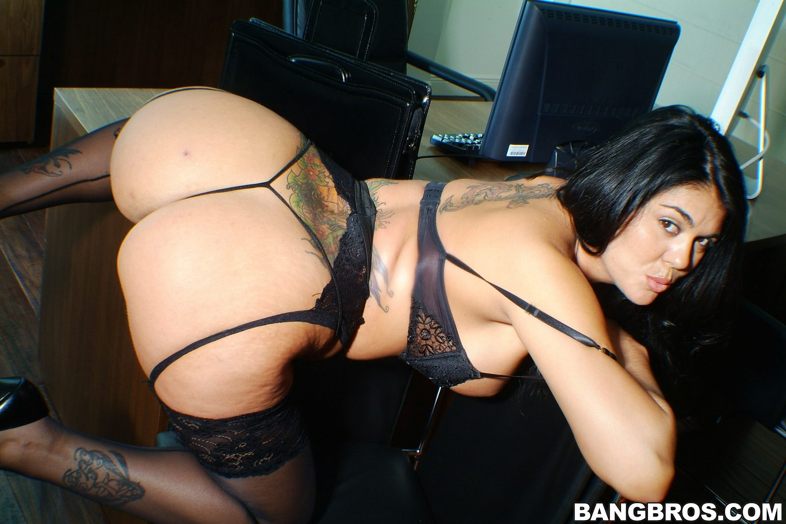 Olivia Olovely Porn olivia o lovely in black stockings stripping in the office