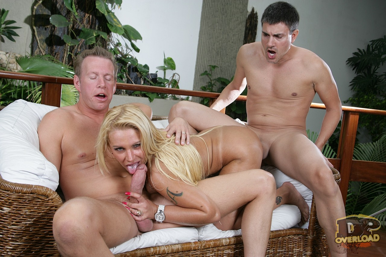 busty blonde pamela butt has hard sex with two horny guys - my