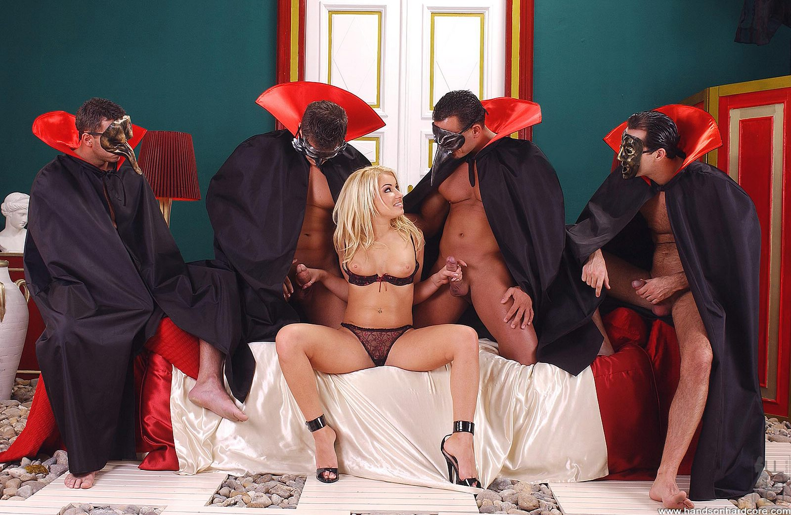 Gangbang Orgy With Masked Freaks