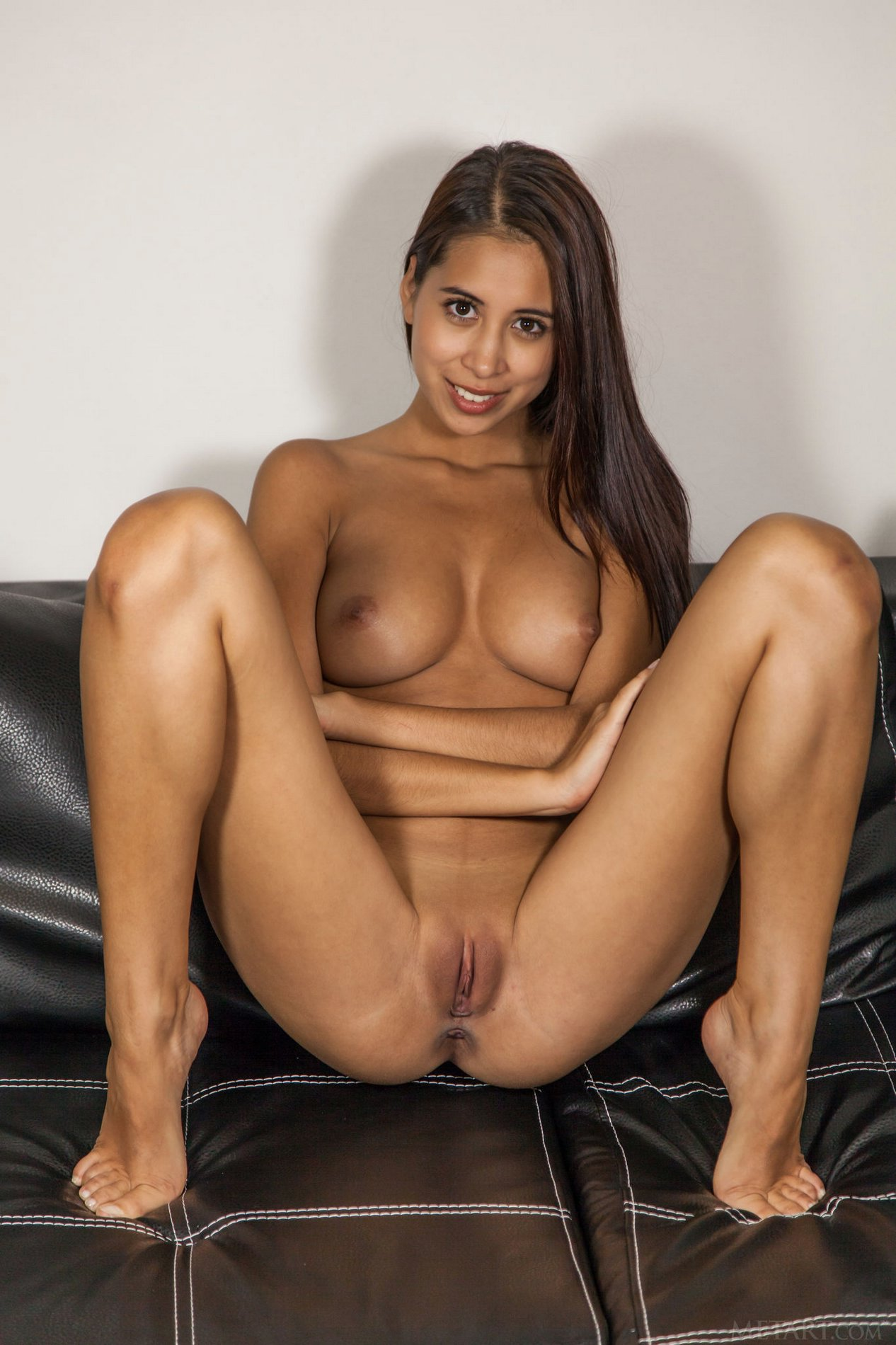 image Shy brunette latina is surprised that she can take all of aj