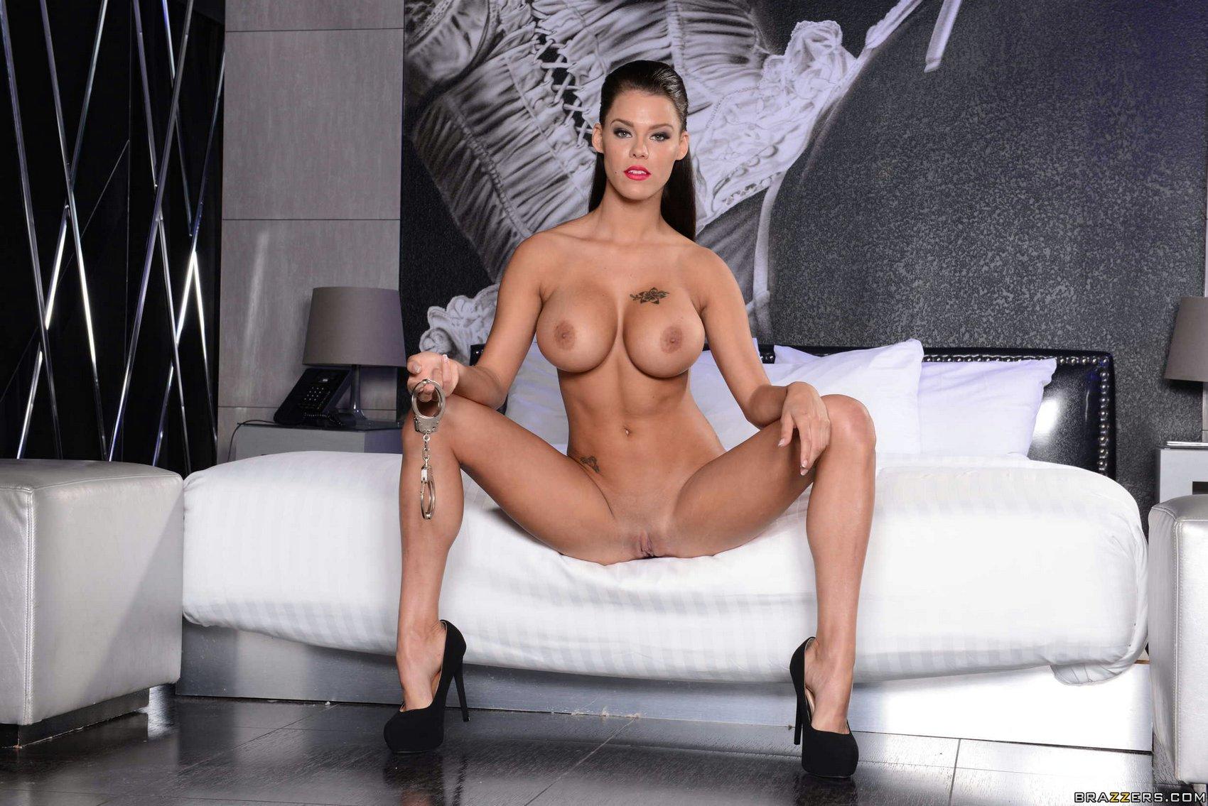 Peta Jensen in high heels showing off her perfect body.