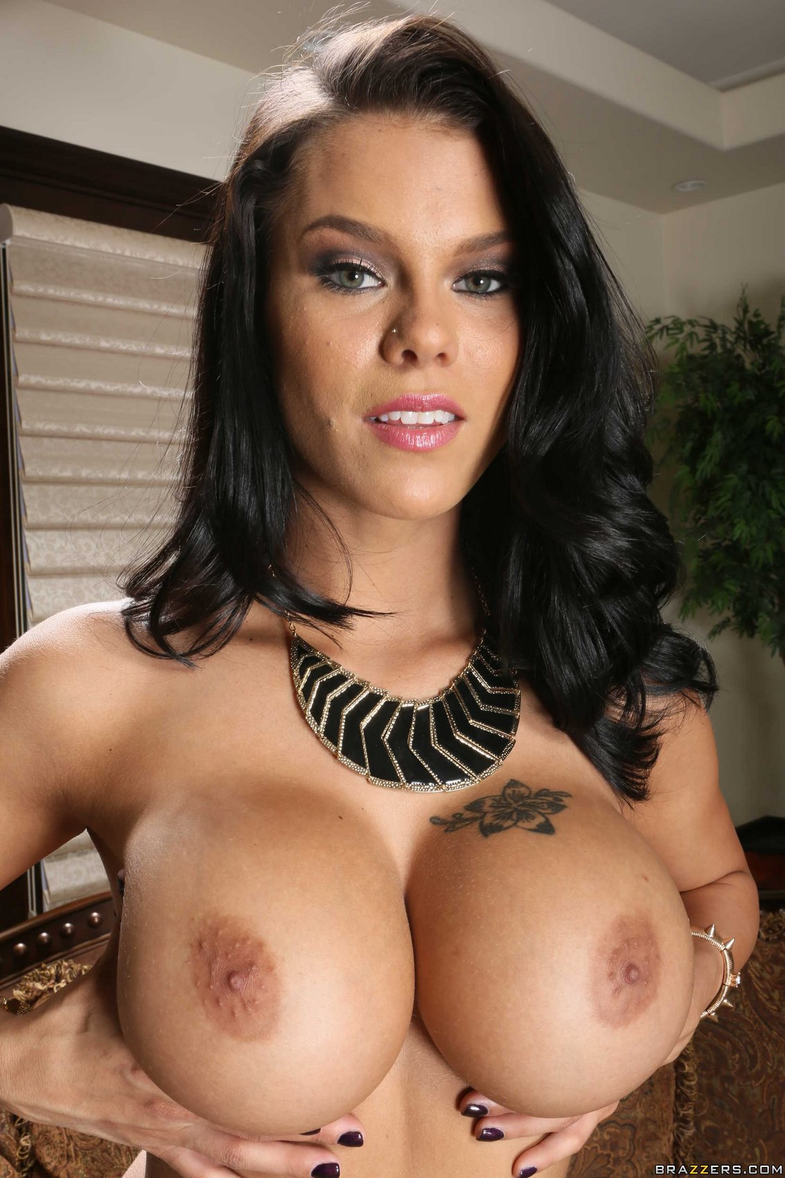peta jensen in sexy outfit stripping and showing her big boobs - my