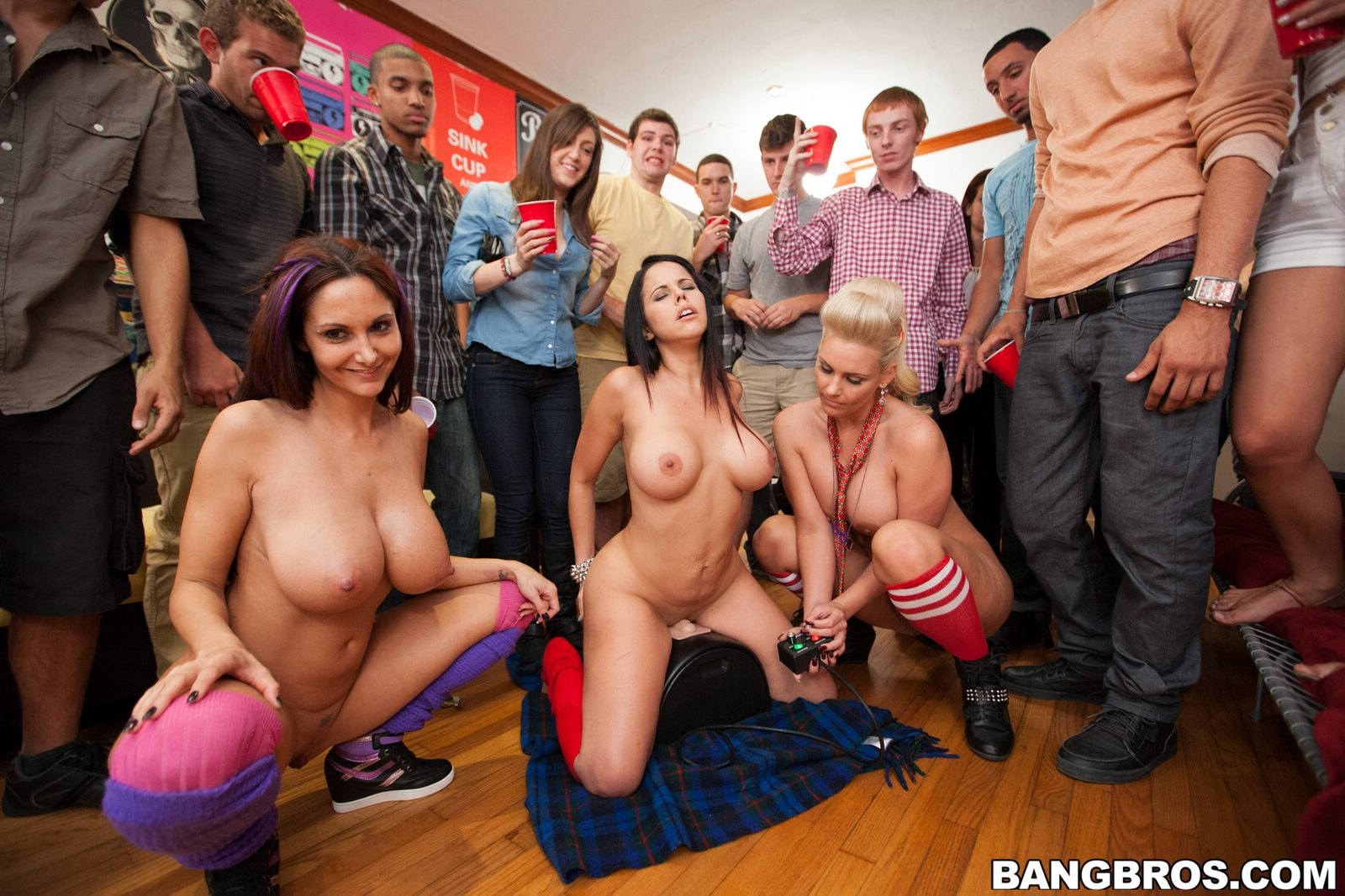 Ebony College Orgy Party