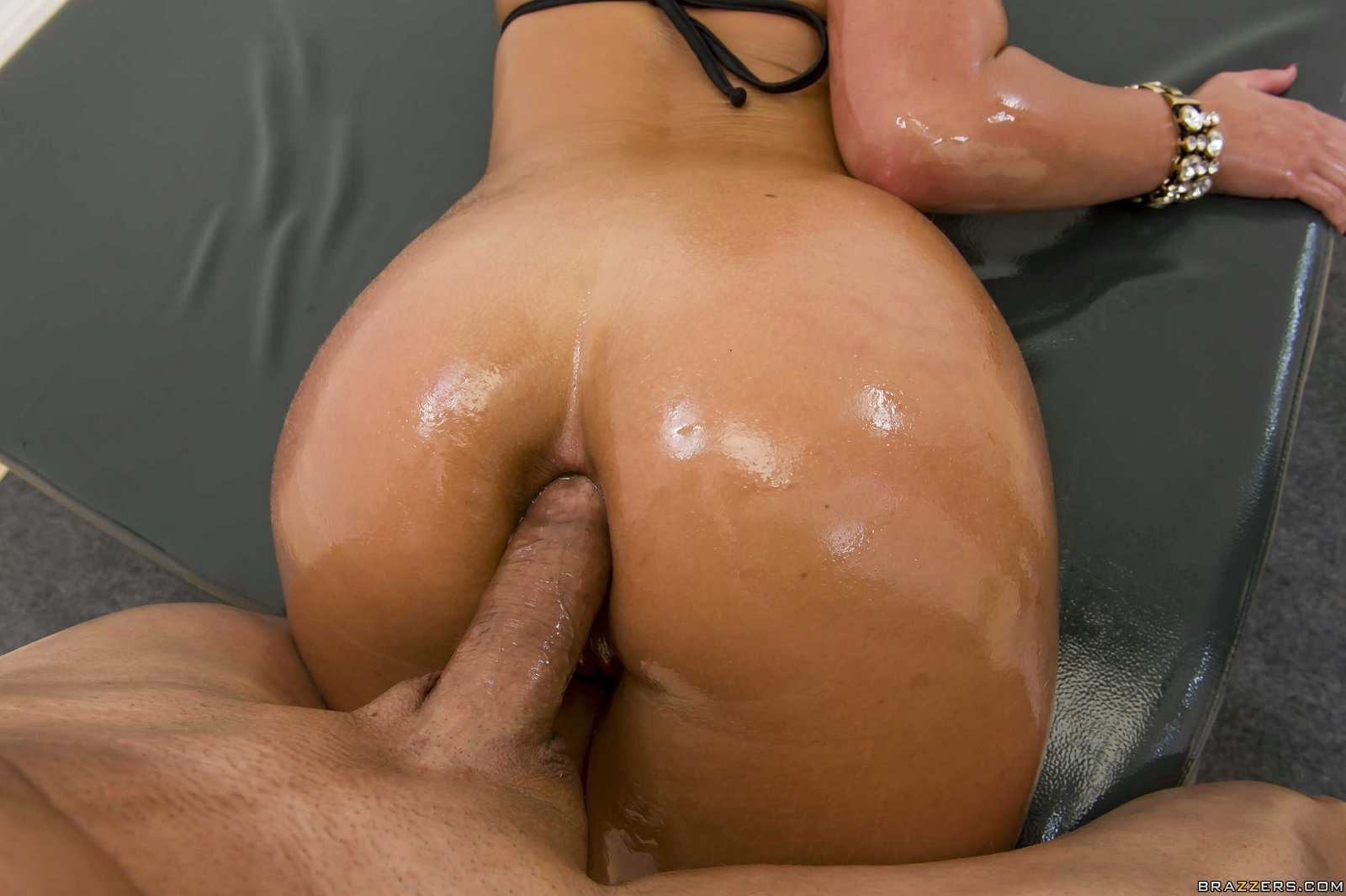Phoenix Marie Gets Her Big Ass Oiled And Fucked Doggy Style