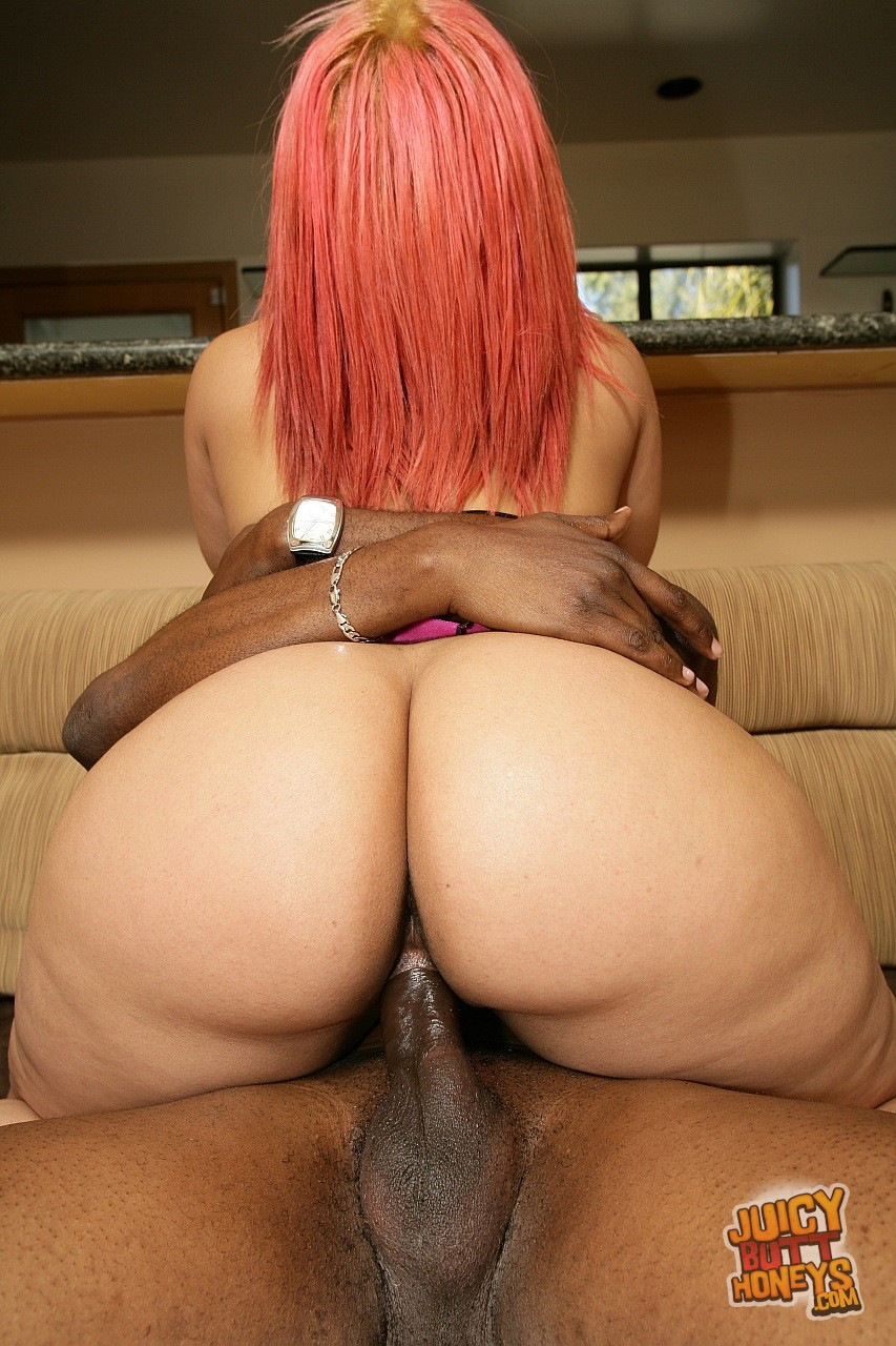 Pinky riding big black dick