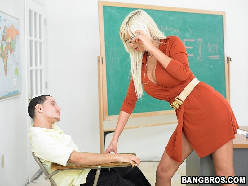 Milf teacher blowjob and milf rides huge